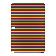 Horizontal Gay Pride Rainbow Flag Pin Stripes Samsung Galaxy Tab Pro 12 2 Hardshell Case by PodArtist