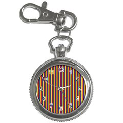 Vertical Gay Pride Rainbow Flag Pin Stripes Key Chain Watches by PodArtist