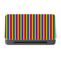Vertical Gay Pride Rainbow Flag Pin Stripes Memory Card Reader With Cf by PodArtist