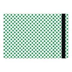 Green Shamrock Clover On White St  Patrick s Day Apple Ipad Pro 10 5   Flip Case by PodArtist