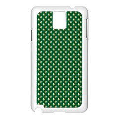 Irish Flag Green White Orange On Green St  Patrick s Day Ireland Samsung Galaxy Note 3 N9005 Case (white) by PodArtist