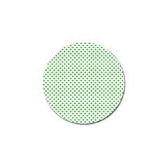 Green Heart Shaped Clover On White St  Patrick s Day Golf Ball Marker (10 Pack) by PodArtist