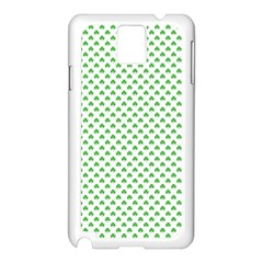 Green Heart Shaped Clover On White St  Patrick s Day Samsung Galaxy Note 3 N9005 Case (white) by PodArtist