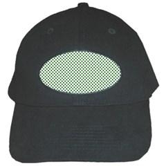 Shamrock 2 Tone Green On White St Patrick?¯s Day Clover Black Cap by PodArtist
