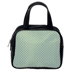 Shamrock 2 Tone Green On White St Patrick's Day Clover Classic Handbags (one Side) by PodArtist