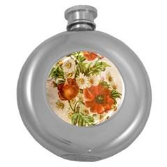 Poppy 2507631 960 720 Round Hip Flask (5 Oz) by vintage2030