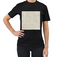Handwritten Letter 2 Women s T Shirt (black) by vintage2030