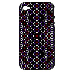 Futuristic Geometric Pattern Apple Iphone 4/4s Hardshell Case (pc+silicone) by dflcprints