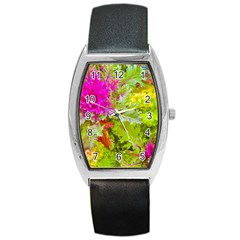 Colored Plants Photo Barrel Style Metal Watch by dflcprints