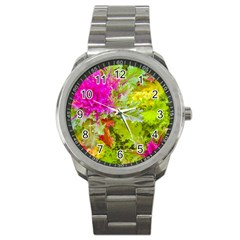Colored Plants Photo Sport Metal Watch by dflcprints