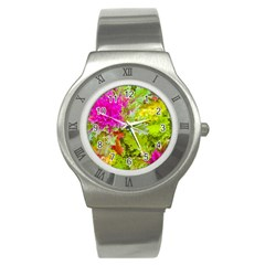 Colored Plants Photo Stainless Steel Watch by dflcprints