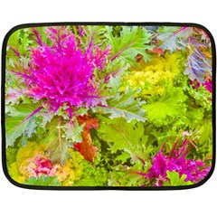 Colored Plants Photo Double Sided Fleece Blanket (mini)  by dflcprints