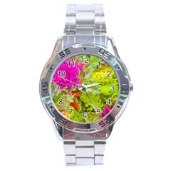 Colored Plants Photo Stainless Steel Analogue Watch by dflcprints