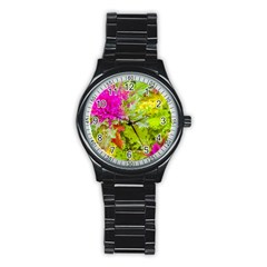 Colored Plants Photo Stainless Steel Round Watch by dflcprints