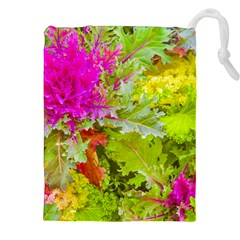 Colored Plants Photo Drawstring Pouches (xxl) by dflcprints