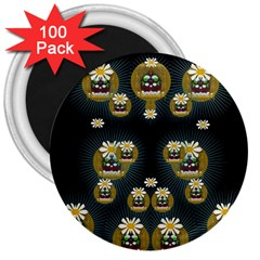 Bats In Caves In Spring Time 3  Magnets (100 Pack)