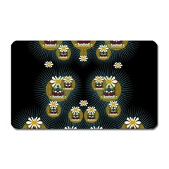 Bats In Caves In Spring Time Magnet (rectangular) by pepitasart