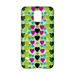 Summer Time In Lovely Hearts Samsung Galaxy S5 Hardshell Case  by pepitasart