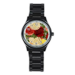 Flowers 1776429 1920 Stainless Steel Round Watch by vintage2030