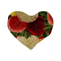 Flowers 1776429 1920 Standard 16  Premium Flano Heart Shape Cushions by vintage2030