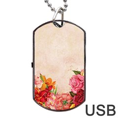 Flower 1646045 1920 Dog Tag Usb Flash (two Sides) by vintage2030