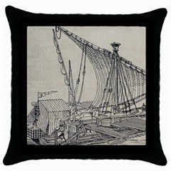 Ship 1515860 1280 Throw Pillow Case (black) by vintage2030