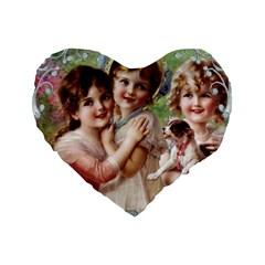 Vintage 1501556 1920 Standard 16  Premium Flano Heart Shape Cushions by vintage2030