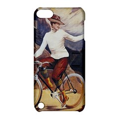 Woman On Bicycle Apple Ipod Touch 5 Hardshell Case With Stand by vintage2030