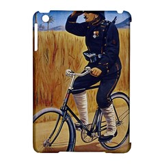 Policeman On Bicycle Apple Ipad Mini Hardshell Case (compatible With Smart Cover) by vintage2030