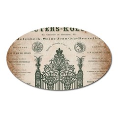 Building News Oval Magnet by vintage2030