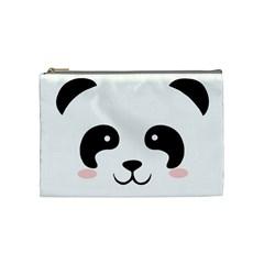 Panda  Cosmetic Bag (medium)  by Valentinaart
