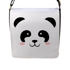 Panda  Flap Messenger Bag (l)  by Valentinaart