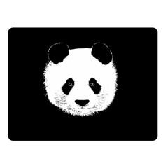 Panda  Double Sided Fleece Blanket (small)  by Valentinaart