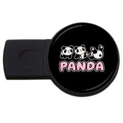 Panda  Usb Flash Drive Round (2 Gb) by Valentinaart