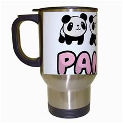 Panda  Travel Mugs (white) by Valentinaart