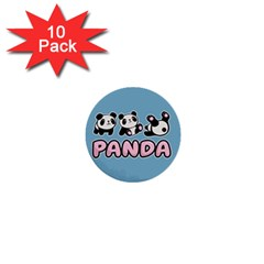 Panda  1  Mini Buttons (10 Pack)  by Valentinaart