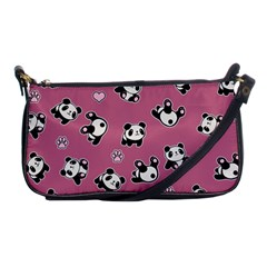 Panda Pattern Shoulder Clutch Bags by Valentinaart