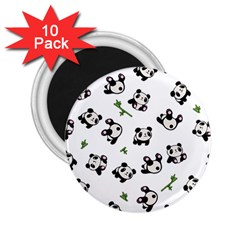 Panda Pattern 2 25  Magnets (10 Pack)  by Valentinaart