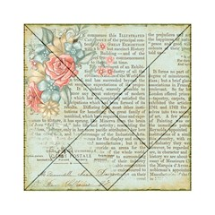 Rose Book Page Acrylic Tangram Puzzle (6  X 6 ) by vintage2030