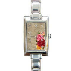 Flower 1646069 960 720 Rectangle Italian Charm Watch by vintage2030