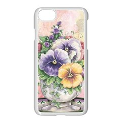 Lowers Pansy Apple Iphone 7 Seamless Case (white) by vintage2030