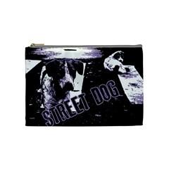 Street Dogs Cosmetic Bag (medium)  by Valentinaart