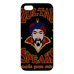 Zoltar Speaks Apple Iphone 5 Premium Hardshell Case by Valentinaart