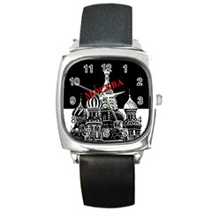 Moscow Square Metal Watch by Valentinaart