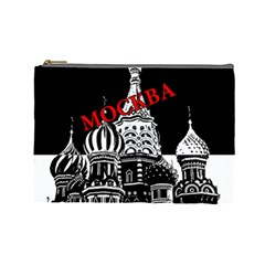 Moscow Cosmetic Bag (large)  by Valentinaart