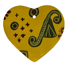 Indian Violin Heart Ornament (two Sides) by snowwhitegirl
