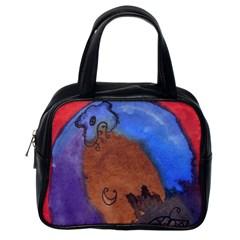 Creepy Castle Classic Handbags (one Side) by snowwhitegirl