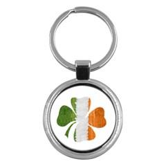 Irish Clover Key Chains (round)  by Valentinaart