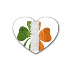 Irish Clover Rubber Coaster (heart)  by Valentinaart