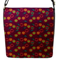 Heart Cherries Magenta Flap Messenger Bag (s) by snowwhitegirl